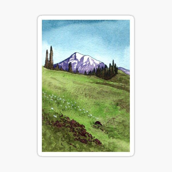 Alpine Meadow Mount Rainier Sticker