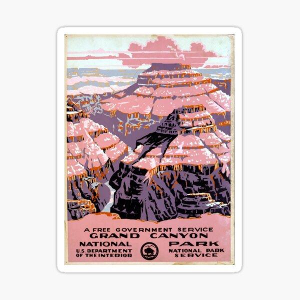Vintage Grand Canyon National Park Arizona WPA Sticker
