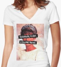Repping ends and killing trends Women's Fitted V-Neck T-Shirt