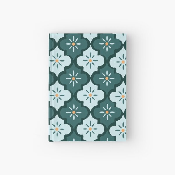 Blue Moroccan Days  Hardcover Journal