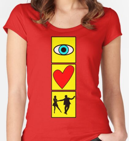 i love dance / west coast swing Women's Fitted Scoop T-Shirt