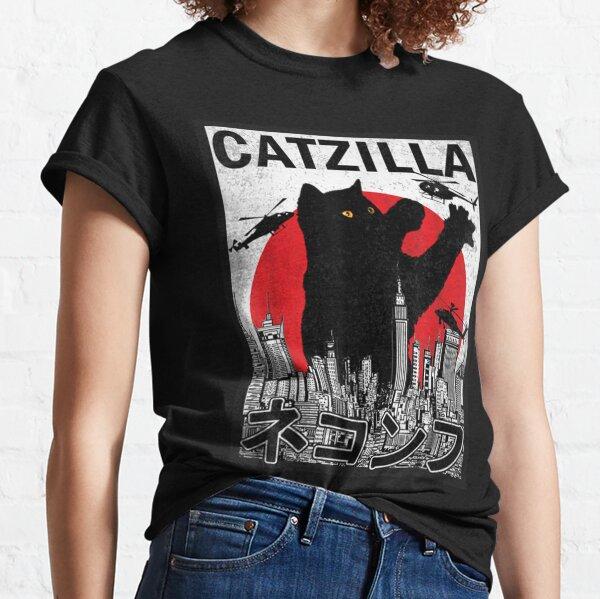 Catzilla Japanese Vintage Sunset Classic T-Shirt