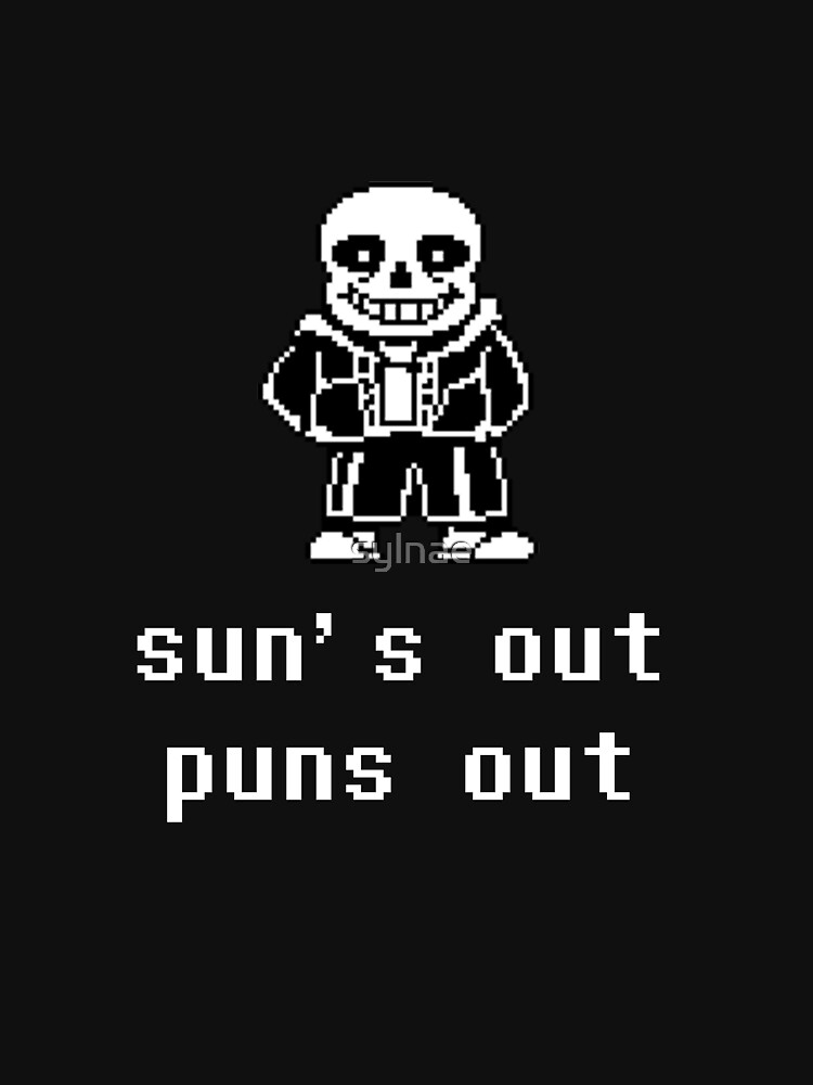 TShirtGifter presents: Sans - Sun's out Puns out | Racerback Tank