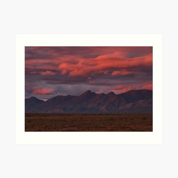 Sunset, Flinders Ranges, Outback South Australia, Australia Art Print