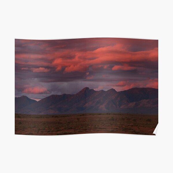 Sunset, Flinders Ranges, Outback South Australia, Australia Poster