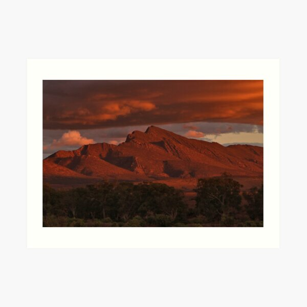 Sunset, Flinders Ranges, Outback South Australia, Australia 2 Art Print