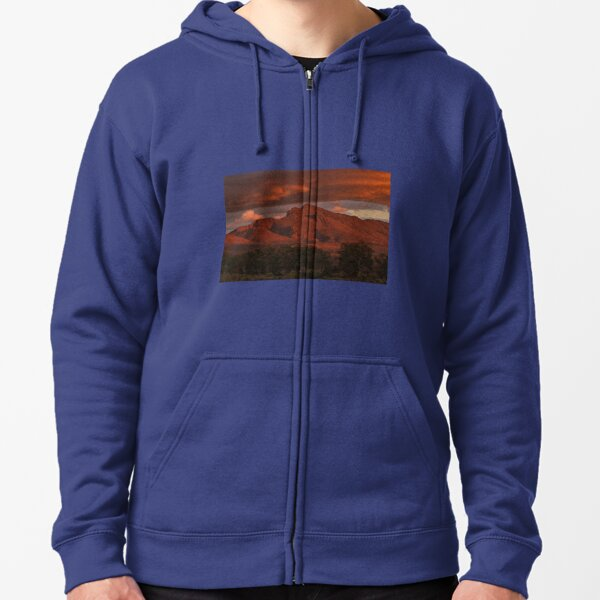 Sunset, Flinders Ranges, Outback South Australia, Australia 2 Zipped Hoodie