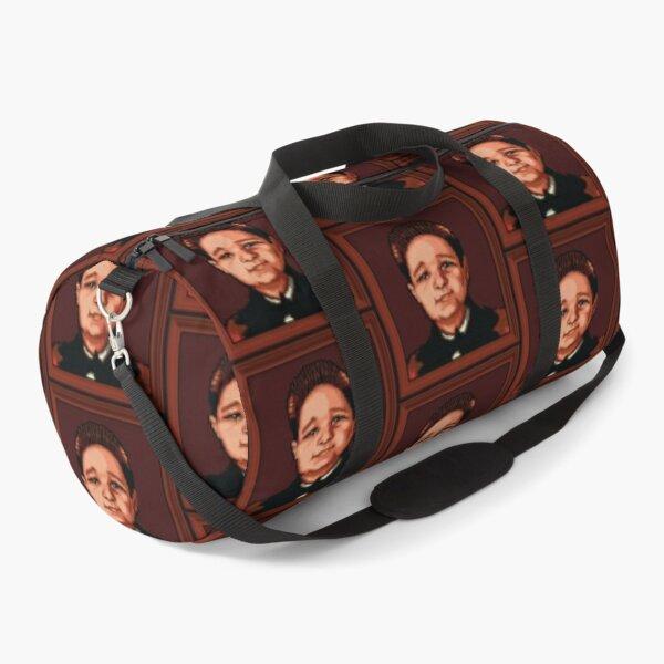 Pugsly Addams Portrait Pixel Art Duffle Bag
