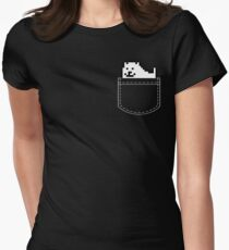 Undertale Dog Pocket Tee Women's Fitted T-Shirt