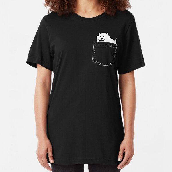 Undertale Dog Pocket Tee Slim Fit T-Shirt