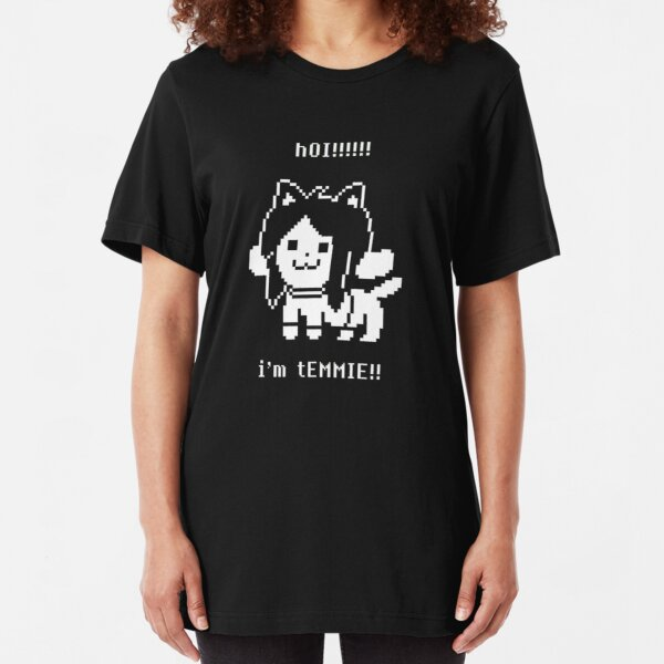 Undertale Temmie Slim Fit T-Shirt