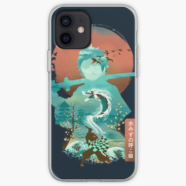 Water Dragon Rising Sun iPhone Soft Case