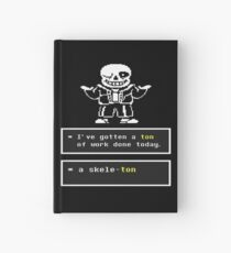 Undertale Sans Hardcover Journal