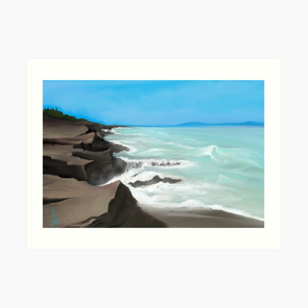 Jagged Coast Art Print