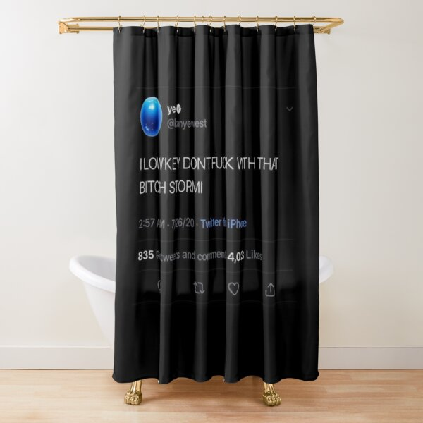 Kanye Tweet Shower Curtain