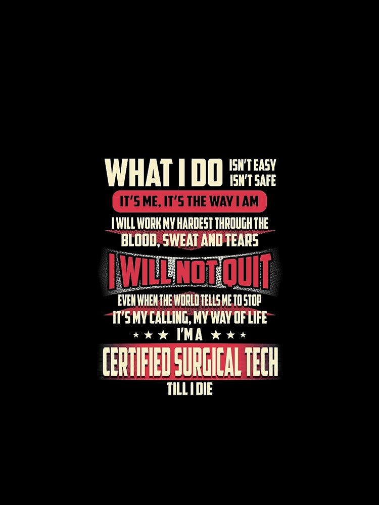 certified surgical tech redbubble