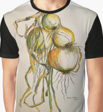 Drying onions Tuscany p&w 2010.  Graphic T-Shirt