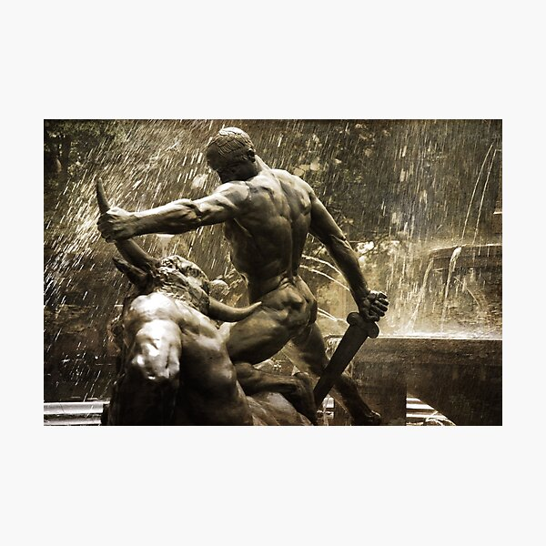 Theseus Slaying a Minotaur Photographic Print