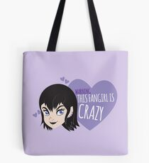 WARNING this fangirl is CRAZY with cute Disney punk girl  Tote Bag