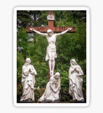 Crucifixion in Cork Sticker