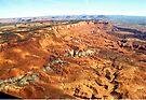 aerial of Red Rock Plateau, Utah (3) by Margaret  Hyde