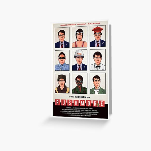 Bill Murray Rushmore Valentines Day Wes Anderson Postcard