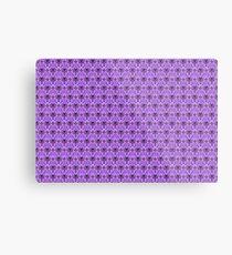 The Haunted Mansion Wallpaper - Light Purple  Metal Print