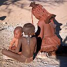 Himba Mother and Children by Margaret  Hyde