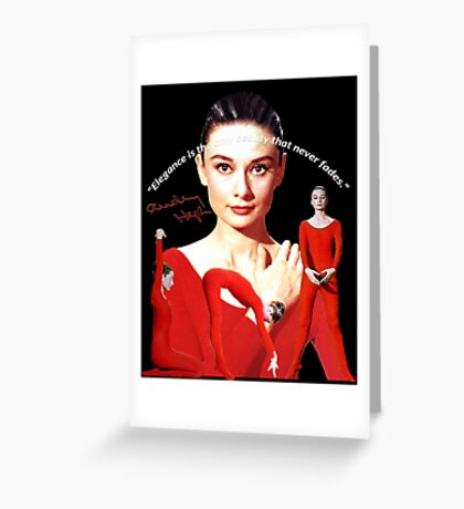 Audrey and elegance Greeting Card