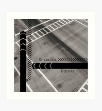 Sherlock- Mind Palace Directions Art Print
