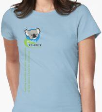 Koala Clancy Foundation - green text Women's Fitted T-Shirt