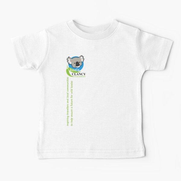 Koala Clancy Foundation - green text Baby T-Shirt
