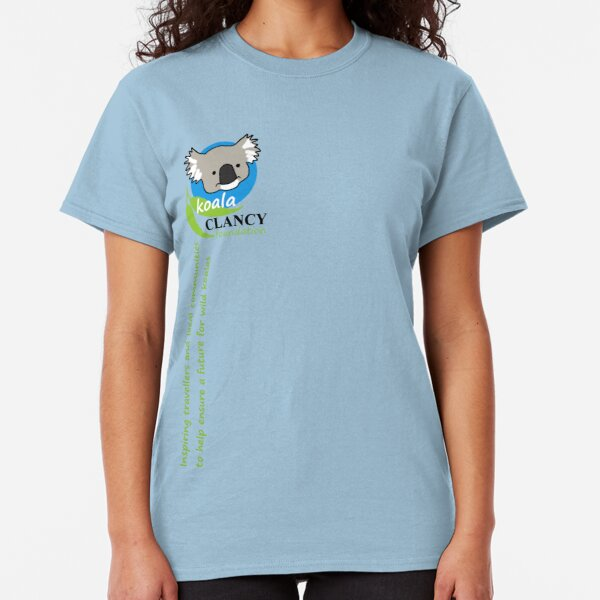 Koala Clancy Foundation - green text Classic T-Shirt