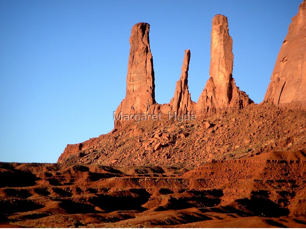 Early morning in Monument Valley, Arizona by Margaret  Hyde