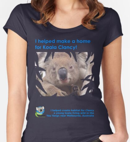 I helped Make a Home for Koala Clancy - new Fitted Scoop T-Shirt