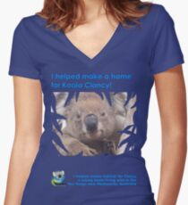 I helped Make a Home for Koala Clancy - new Women's Fitted V-Neck T-Shirt