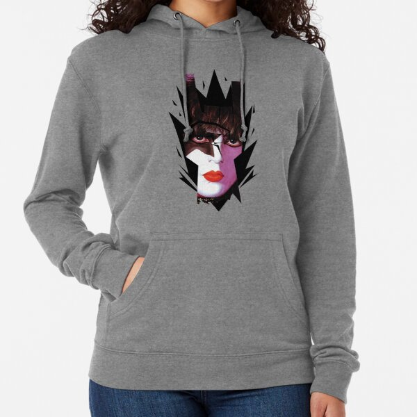 Kiss Starchild In Rock Gesture Horns Sign Graphic Lightweight Hoodie
