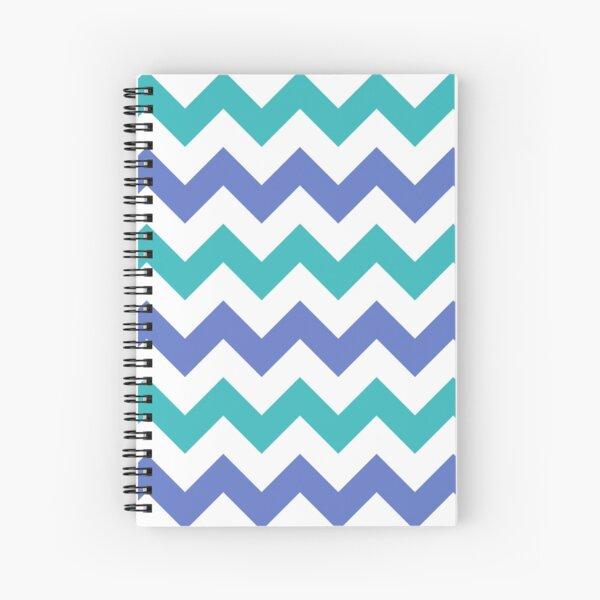 Chevron Zigzag Teal Violet Simple Pattern Spiral Notebook