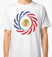Mexican American Multinational Patriot Flag Series 1.0 Classic T-Shirt
