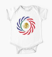 Mexican American Multinational Patriot Flag Series 1.0 One Piece - Short Sleeve