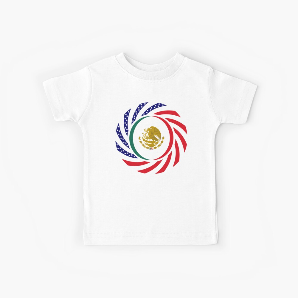 Mexican American Multinational Patriot Flag Series Kids T-Shirt