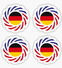 German American Multinational Patriot Flag Series Sticker