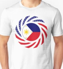 Filipino American Multinational Patriot Flag Series  Slim Fit T-Shirt