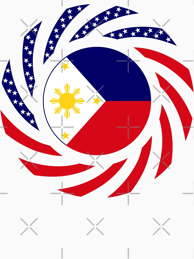Filipino American Multinational Patriot Flag Series  by carbonfibreme