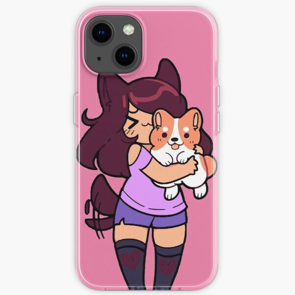 aphmau Cute with her Dog iPhone Soft Case