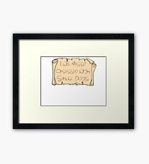 Messr. Obsessed With Small Dots Framed Print