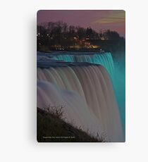 American Falls At Night | Niagara Falls, New York Canvas Print