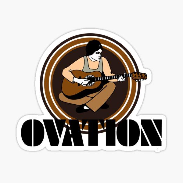 Vintage Ovation Guitars String Fling Black Sticker