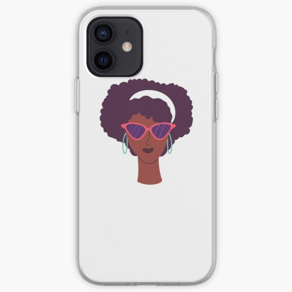 Queen Afro, Afro Lady T-Shirt, Black Power Tee, Woman Empowerment, African Shirt, Black History Shirt, iPhone Soft Case