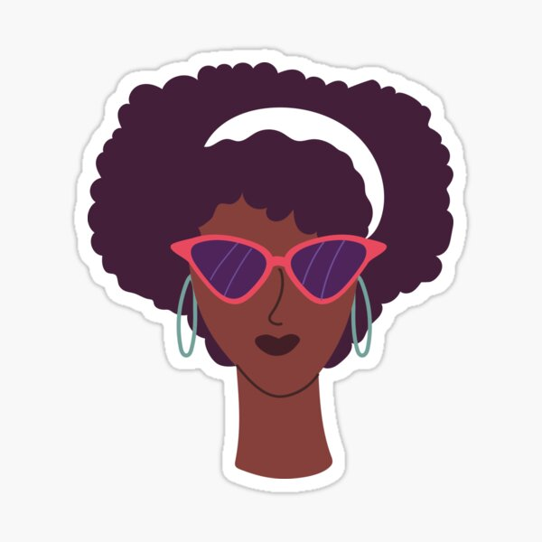 Queen Afro, Afro Lady T-Shirt, Black Power Tee, Woman Empowerment, African Shirt, Black History Shirt, Sticker